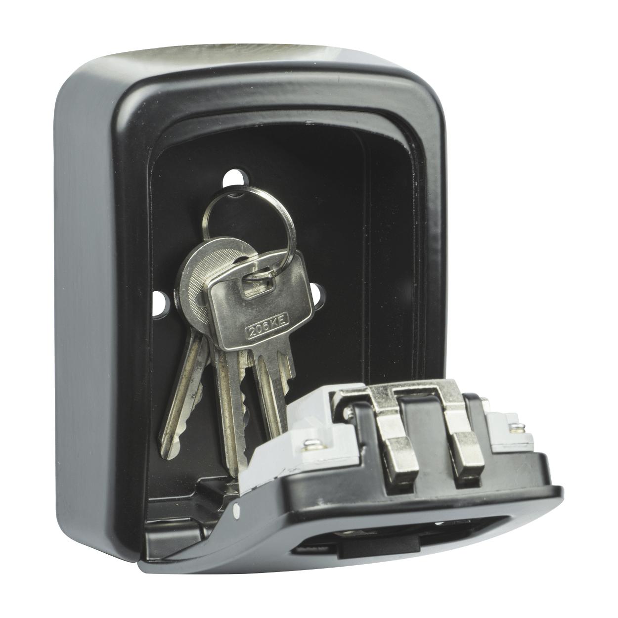 Boîtier pour clé sécurisé à serrure 4 chiffres