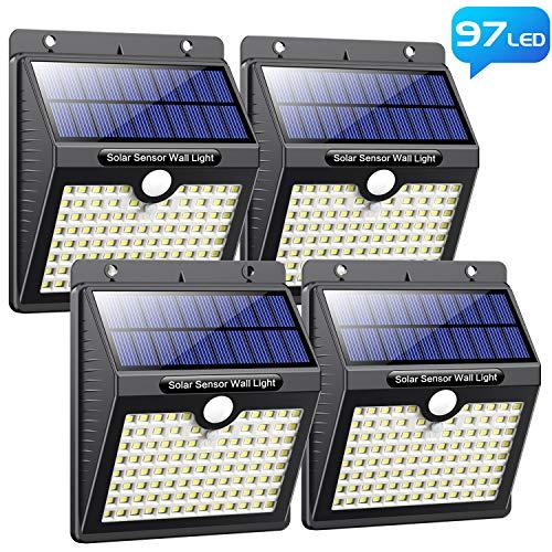 Pack de 4 Lampes LED Solaires d'Extérieur Pxwaxpy - 2200mah (Via Coupon - Vendeur Tiers)