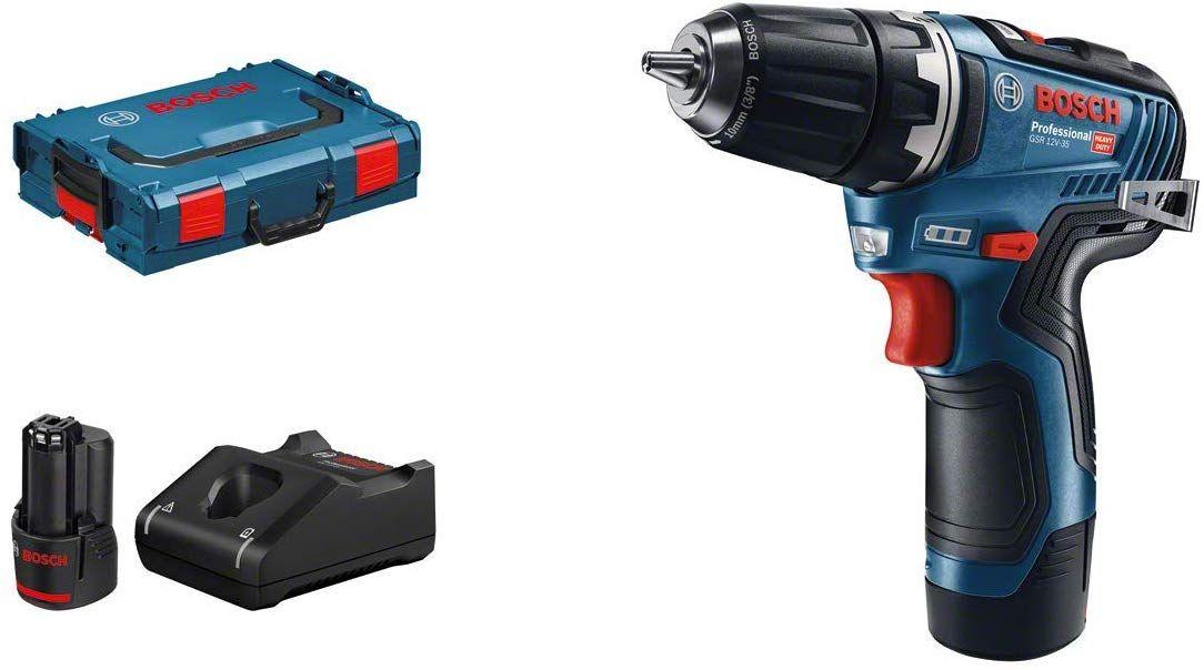 Perceuse-visseuse sans-fil Bosch GSR 12v-35 - Batteries 2x 3Ah, L-Boxx