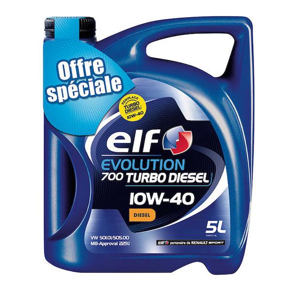 Huile ELF Evolution 900 5W40 ou 10W40 5L - Essence ou Diesel