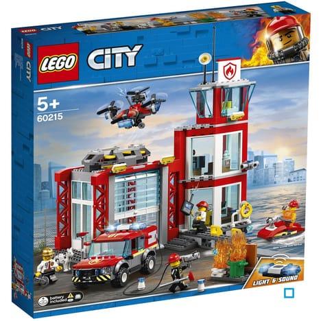 Jouet Lego City - La caserne de pompiers 60215 (Via 9.98€ sur la carte fidélité)