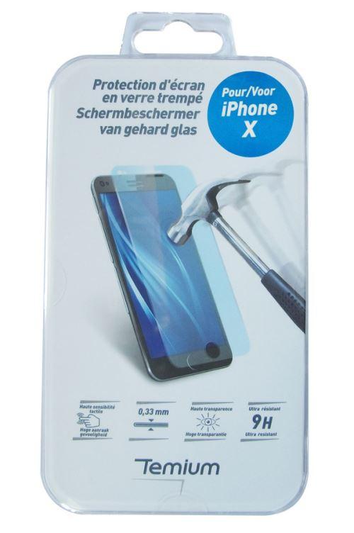 [Adhérents] Protection d'écran en verre trempé pour iPhone X/XS/11 Pro Temium