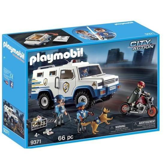 Jouet Playmobil City Action 9371 Fourgon blindé