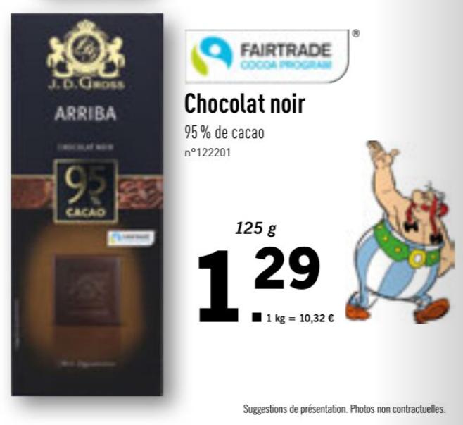 Chocolat Noir J.D. Gross Aribba 95% Cacao