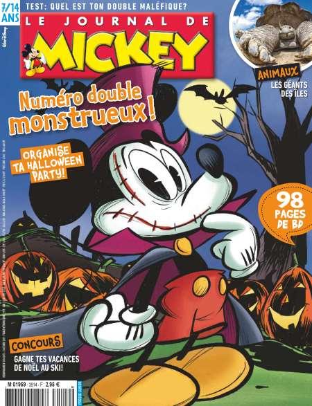Abonnement de 7 mois (30 numéros) à l'hebdomadaire Le Journal de Mickey