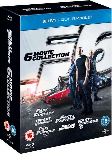 Coffret Blu-ray + Copie Ultraviolet : Fast & Furious : 1,2,3,4,5,6