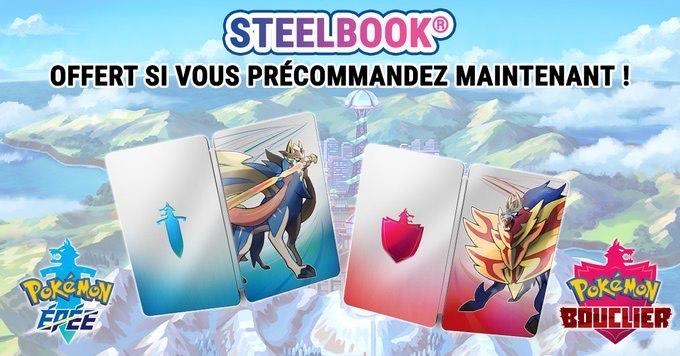 Précommande : Pokemon Epee / Bouclier sur Nintendo Switch (Dématérialisé) + Steelbook