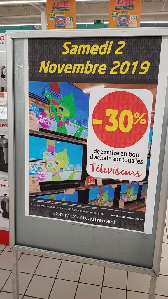 30% offerts en bon d'achat sur tous les téléviseurs - Saint-Junien (87)