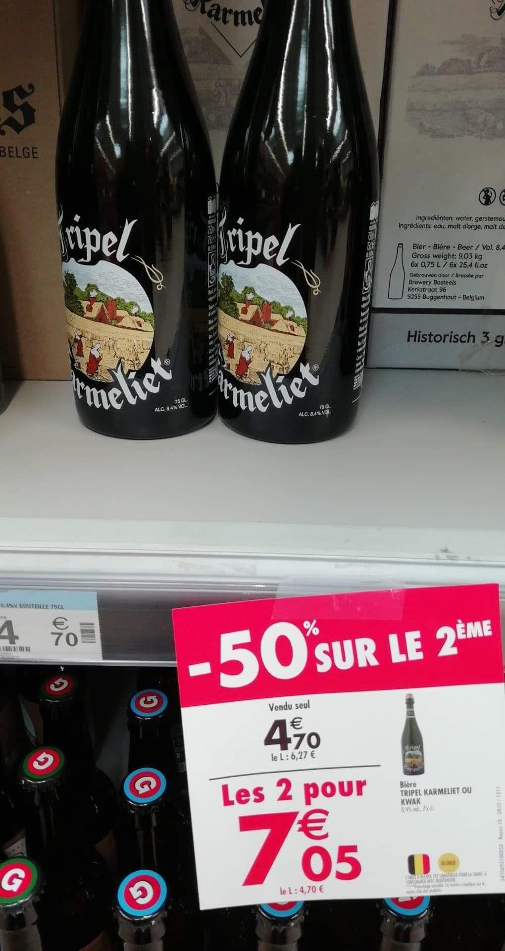 2 bouteilles de bière Triple Karmeliet - 2 x 75 cl - La Beaujoire Nantes (44)