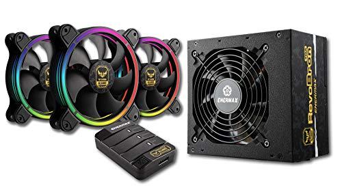 Alimentation PC Semi Modulaire Enermax RevoBron TGA (500W 80+ Bronze) + 3 ventilateurs TBRGB