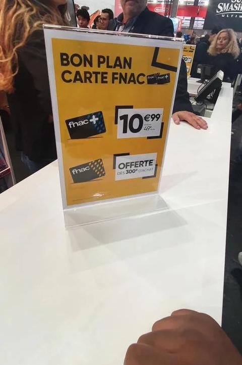 Abonnement à la Carte Fnac+ - Paris Games Week (75)