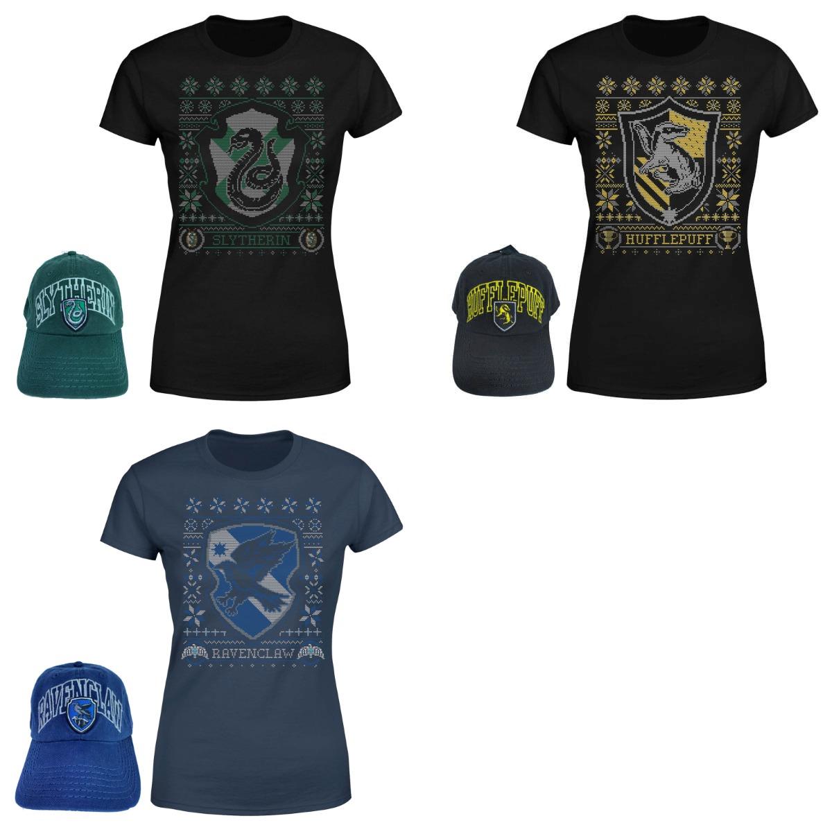 Lot de 1 t-shirt + 1 casquette Harry Potter en promotion (Serpentard, Poufsouffle ou Serdaigle) - Pour Homme, Femme et Enfant