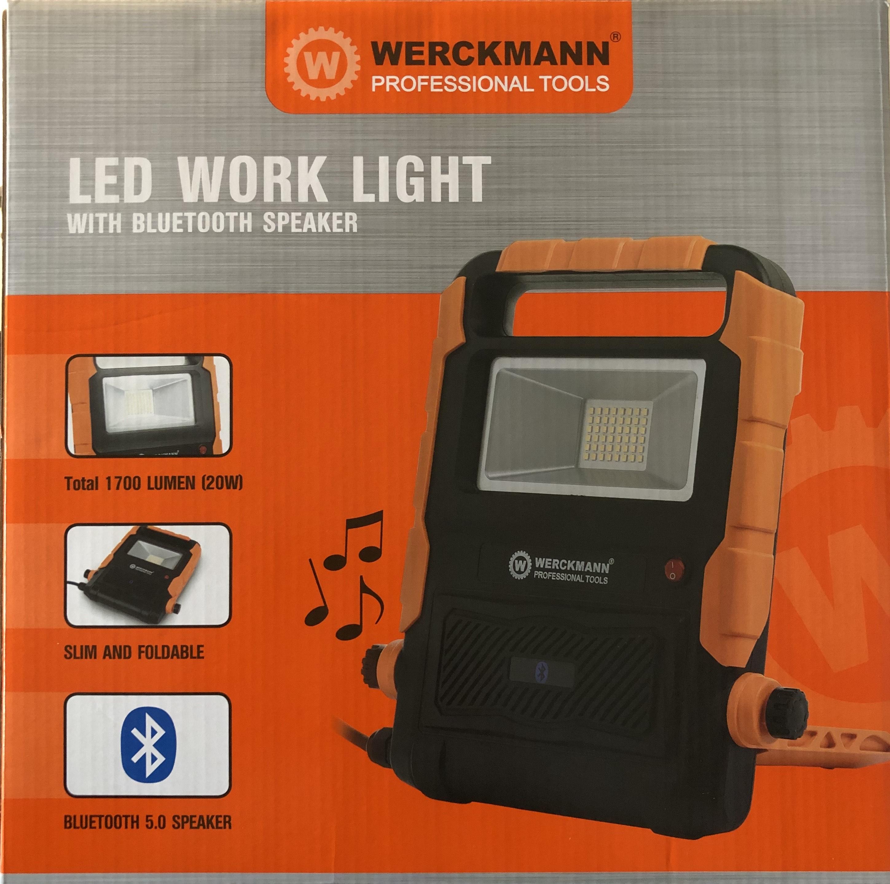 Lampe LED de Chantier Werckmann - Bluetooth