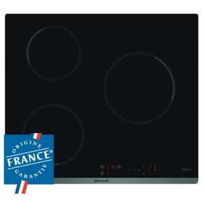 Table de cuisson induction Brandt BPI6310B - 3 zones (4600W)