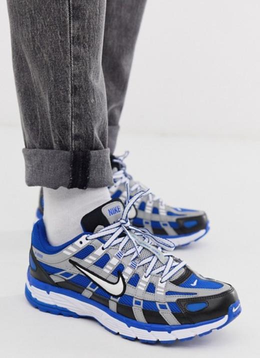 Baskets Homme Nike P-6000 (Bleu) - Tailles au choix