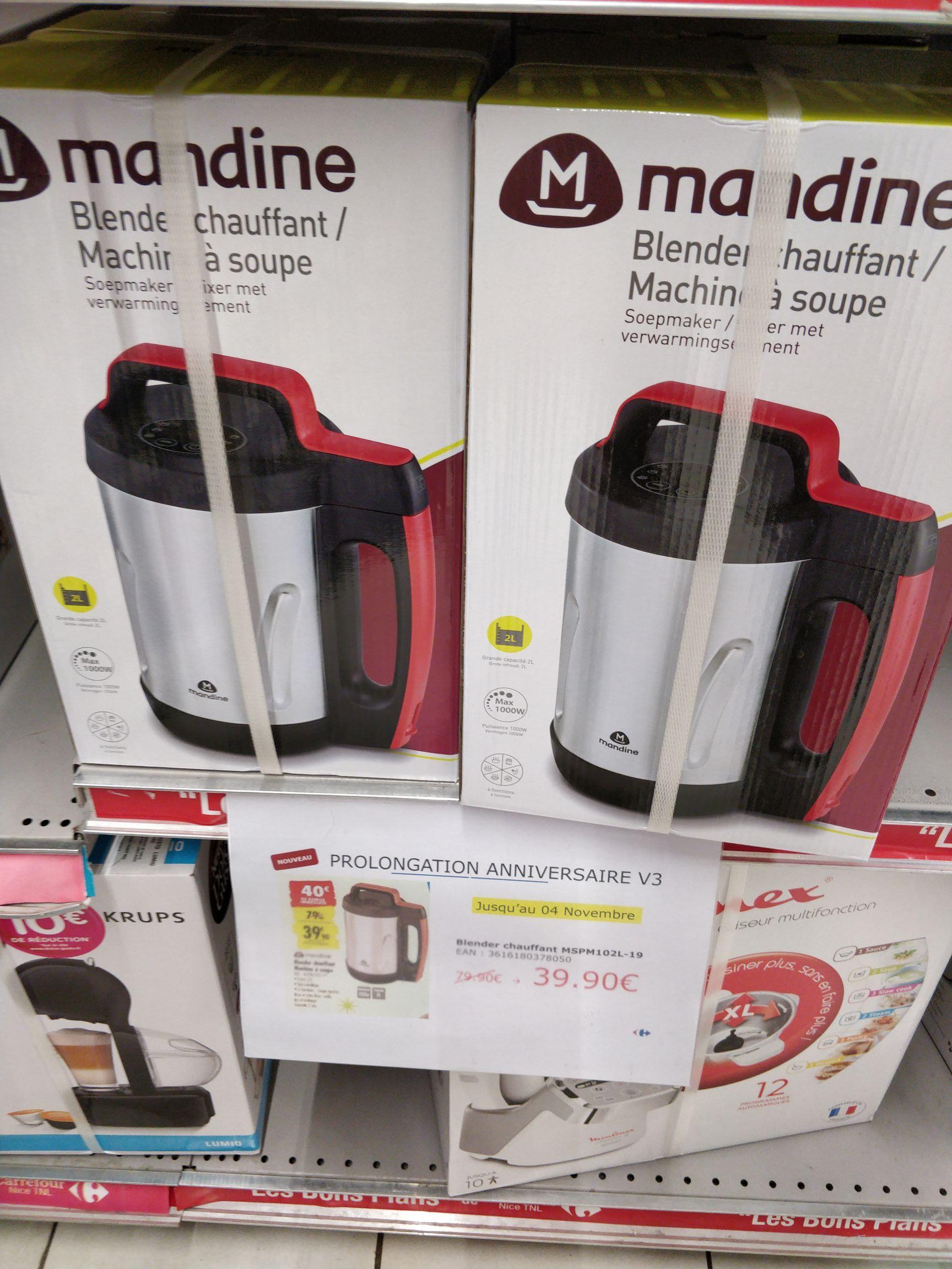 Blender chauffant / machine à soupe Mandine MSPM102L-19 - Nice (06)