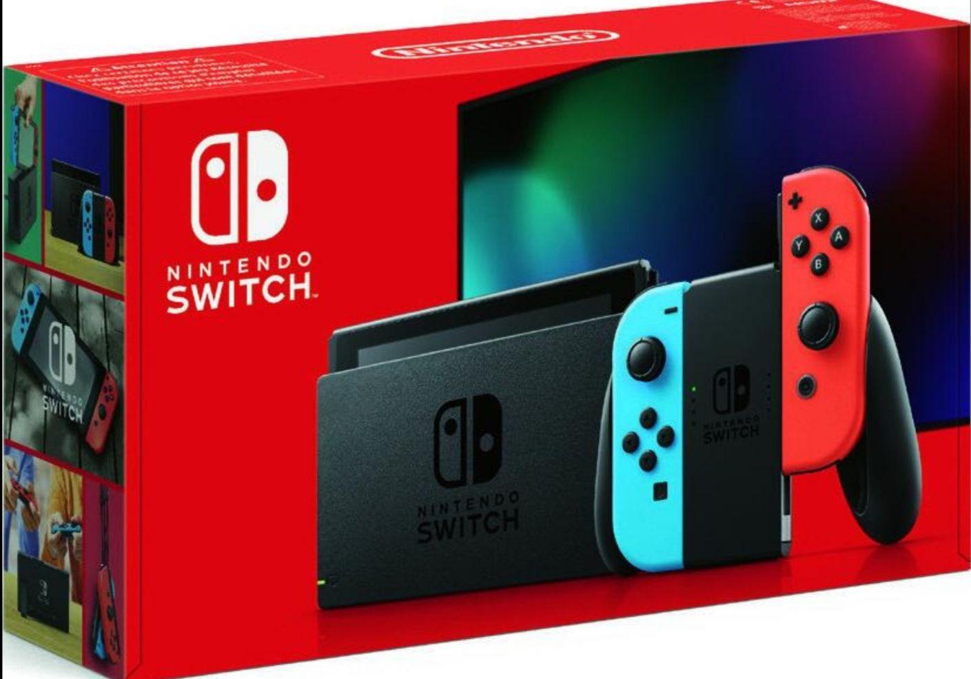 Console Nintendo Switch 2019 avec paire de Joy-Con Néon ou Gris (via 87.87€ en bon d'achat) - Auch (32)