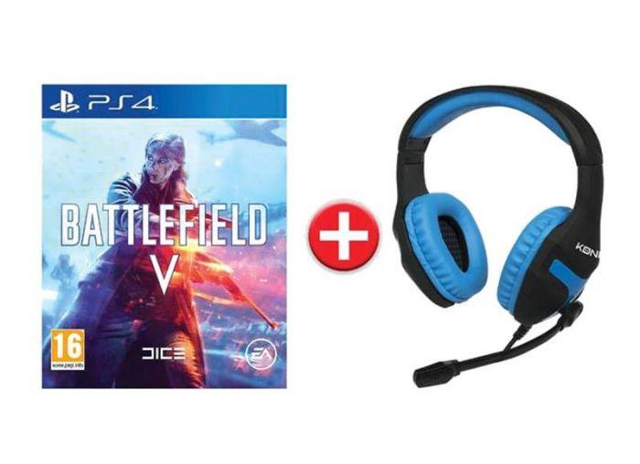 Battlefield V sur PS4 + Casque-Micro Konix PS-400