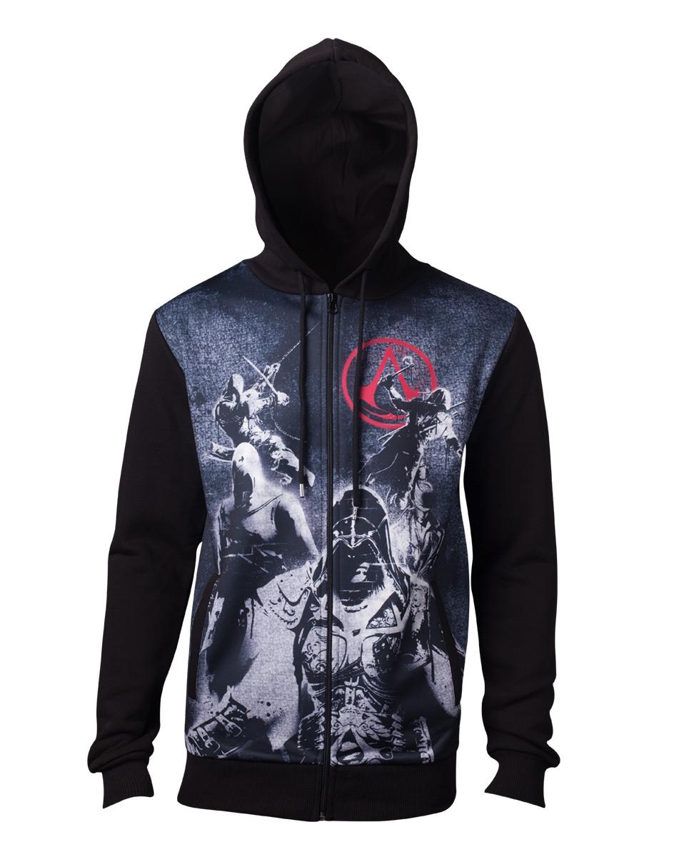 Sélection de vêtements Assassin Creed en promotion - Ex : Sweat à capuche sublimé Live by the Creed (Taille au choix)