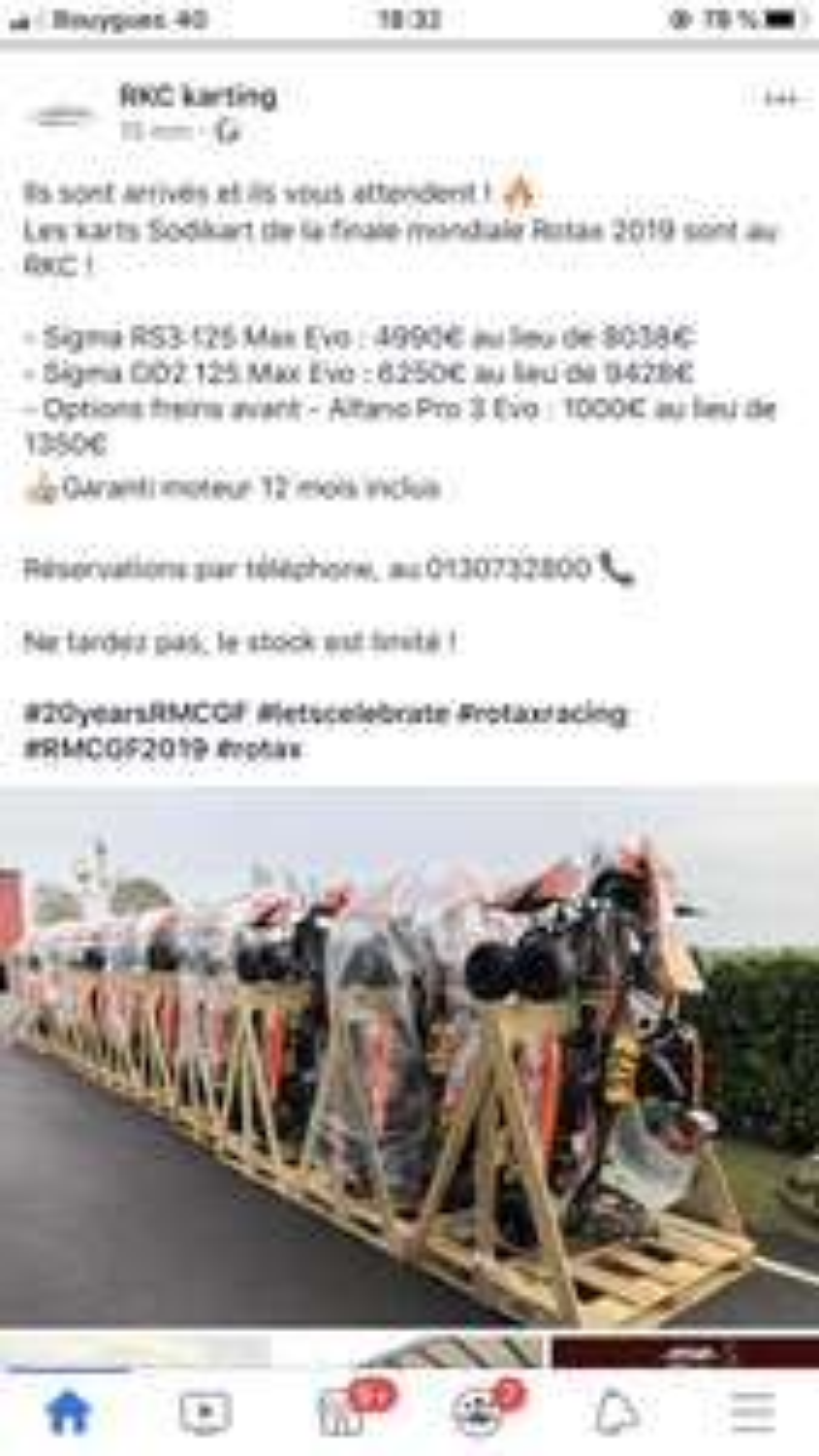 Karting Sigma RS3 125 Max Evo Rotax (2019) - RKC Karting Boissy-l'Aillerie (95)