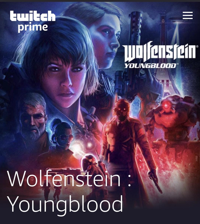 [Twitch Prime] DLC Pack de skins pour Wolfenstein Youngblold offert (Dématérialisé)
