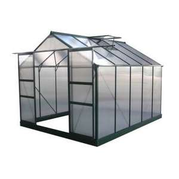 Serre jardin polycarbonate Dahlia - Vert sapin 7,67 m²
