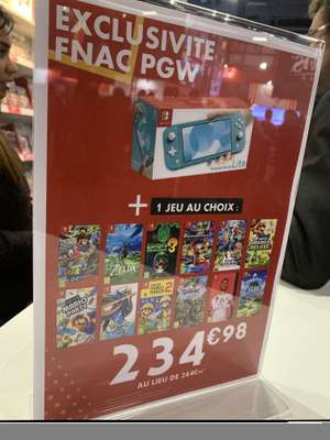 Console Nintendo Switch Lite + 1 jeu - Stand Fnac Paris Games Week (75)