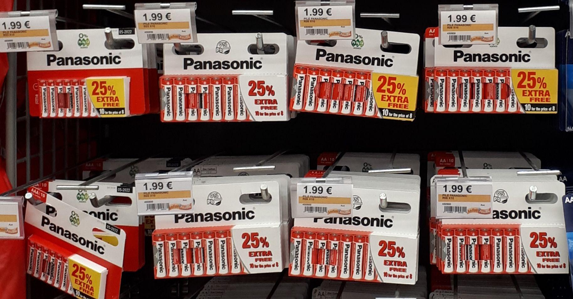 10 Piles Panasonic AA R6, 1,5V - Rochelle (17)