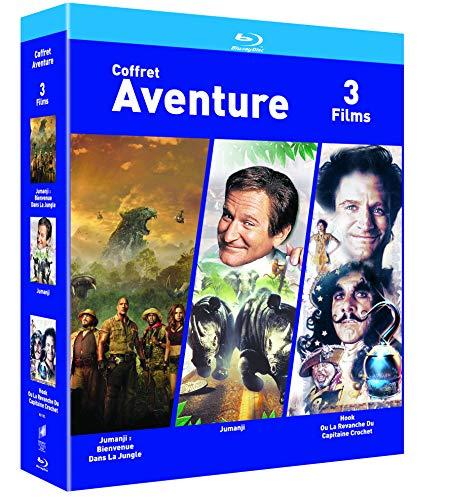 Coffret Blu-ray Jumanji bienvenue dans la jungle + Jumanji + Hook