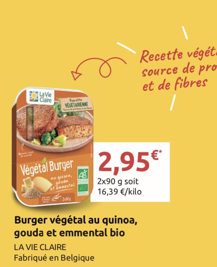 Burger Vegetale au quinoa - lavieclaire Ile de France