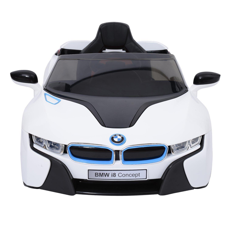 Voiture électrique enfant BMW I8 - Blanc ou bleu