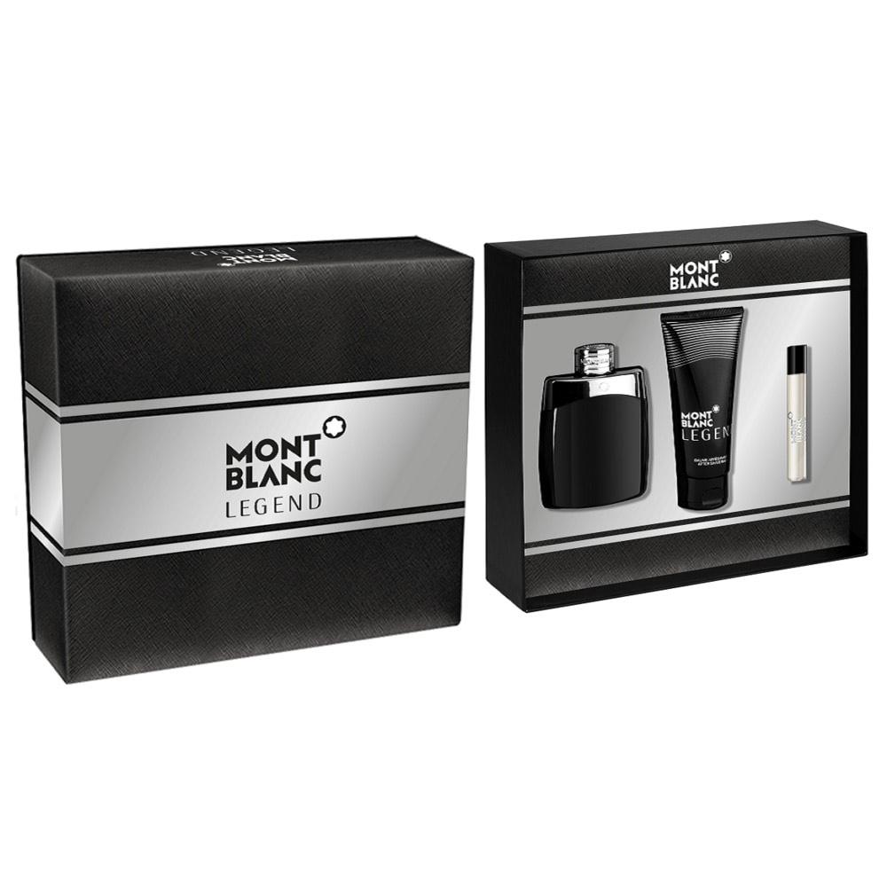 Coffret Montblanc Legend - Eau de Toilette 100 ml + Baume 100 ml + Vaporisateur 7,5 ml
