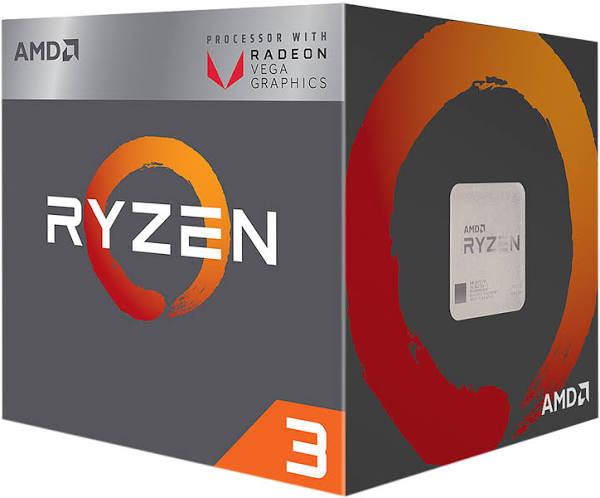 Processeur AMD Ryzen 3 2200G - 4 coeurs, 3,50 GHz, Vega 8 (74.22€ avec le code WELCOMESEP)