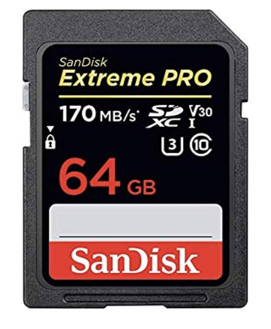 Carte mémoire SDXC SanDisk Extreme Pro - 64 Go