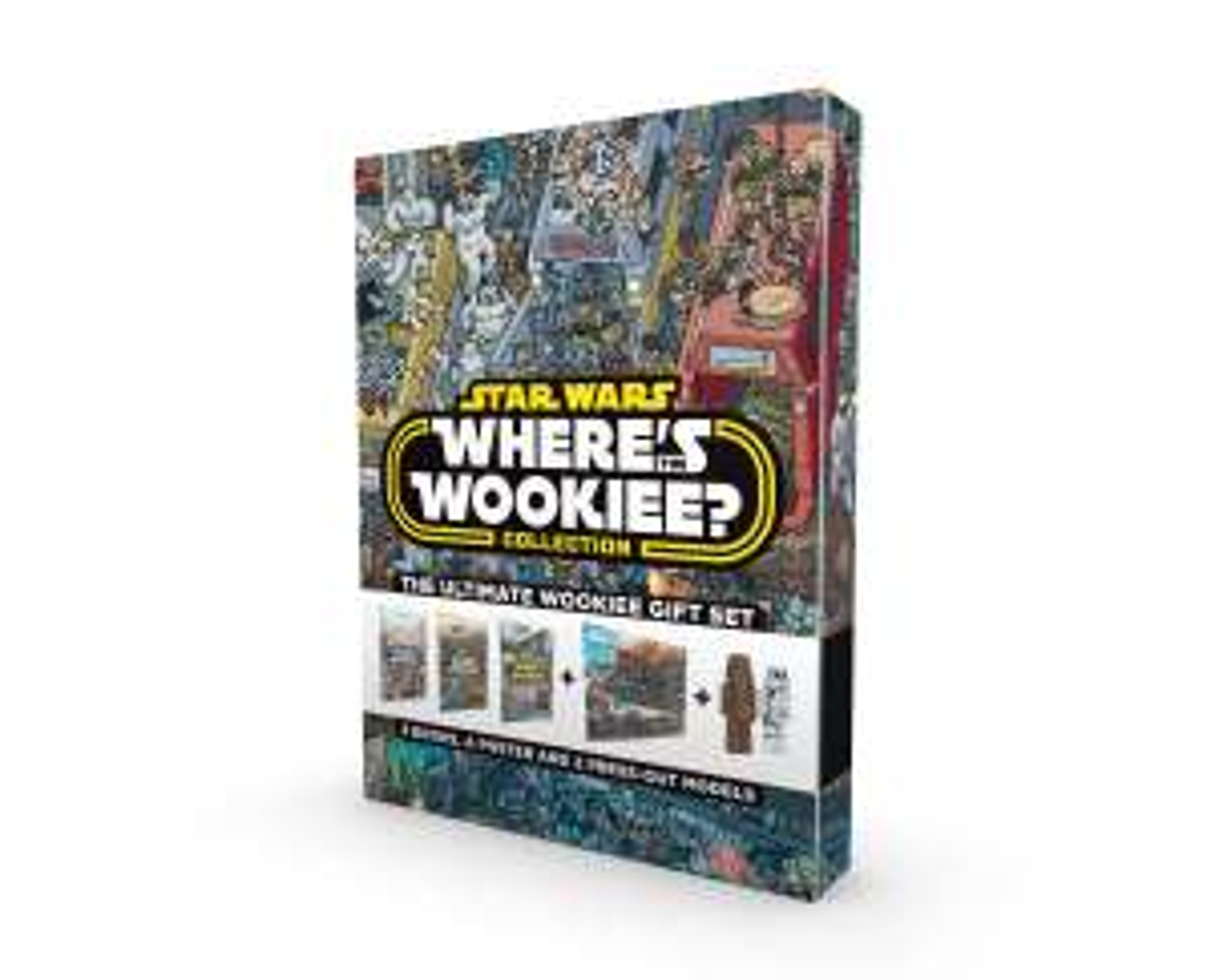 Coffret 3 Tomes + Figurines Où se cache Chewbacca (Anglais)