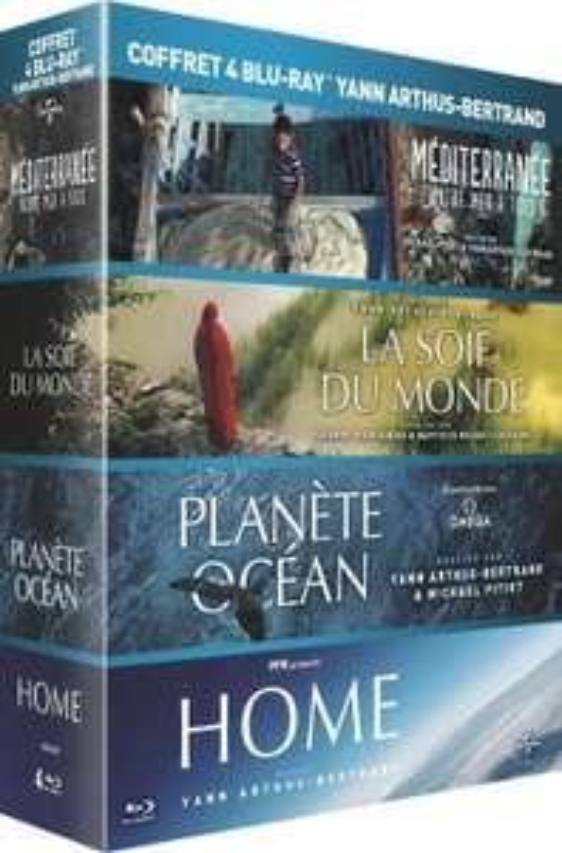 Coffret Blu-ray Yann Arthus-Bertrand - Planète Océan + La soif du monde + Home + Méditerranée, notre mer à tous