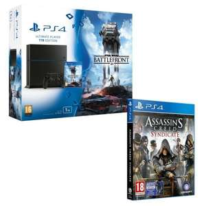 Pack Console Sony PS4 1 To + Star Wars Battlefront + Assassin's Creed Syndicate édition spéciale