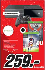 Console Xbox One 500 Go  + Fifa 16 ou Gears of Wars