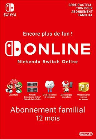 Abonnement Familial de 12 mois au service Nintendo Online - Jusqu'à 8 comptes (Dématérialisé)