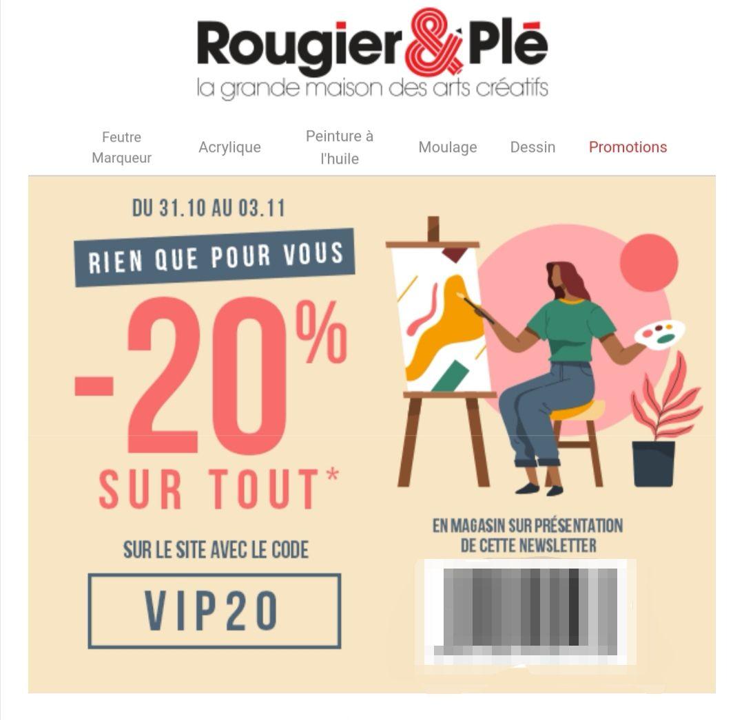 20% de réduction sur tout le site - rougier-ple.fr