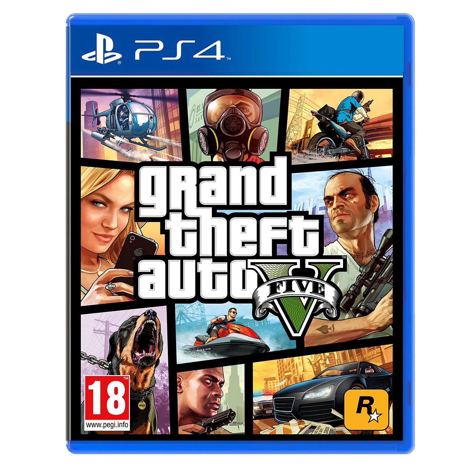 Jeu Grand Theft Auto V (GTA 5) sur PS4
