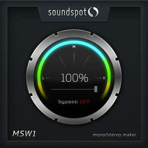 Plugin Audio MSW1 Mono Stereo Maker - VST, AU, AAX (Dématérialisé - Soundspot.audio)