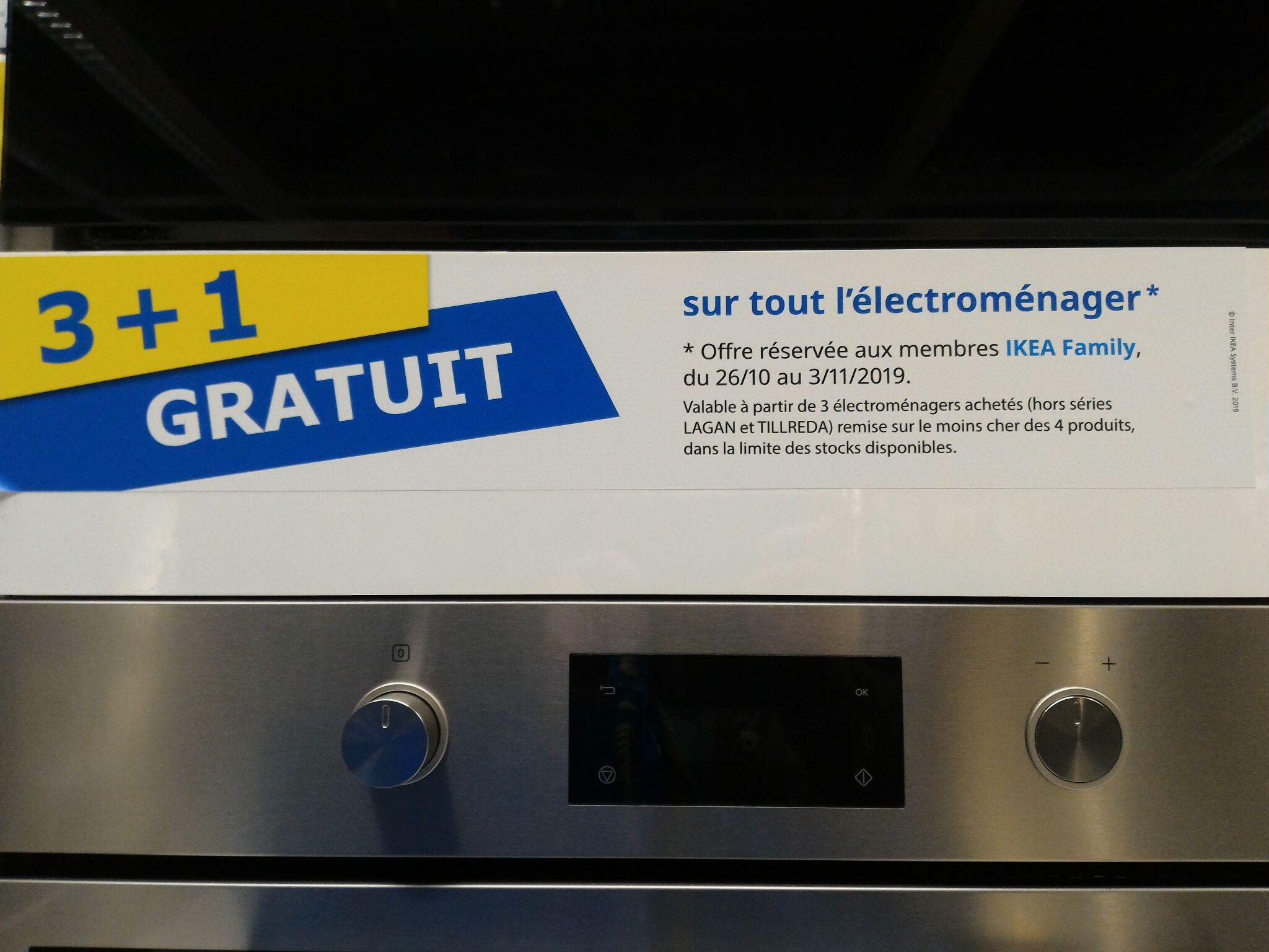 [Ikea Family] 3 produits électroménagers achetés + 1 gratuit (Le moins cher - Hors Lagan et Tillreda) - Thiais (94)
