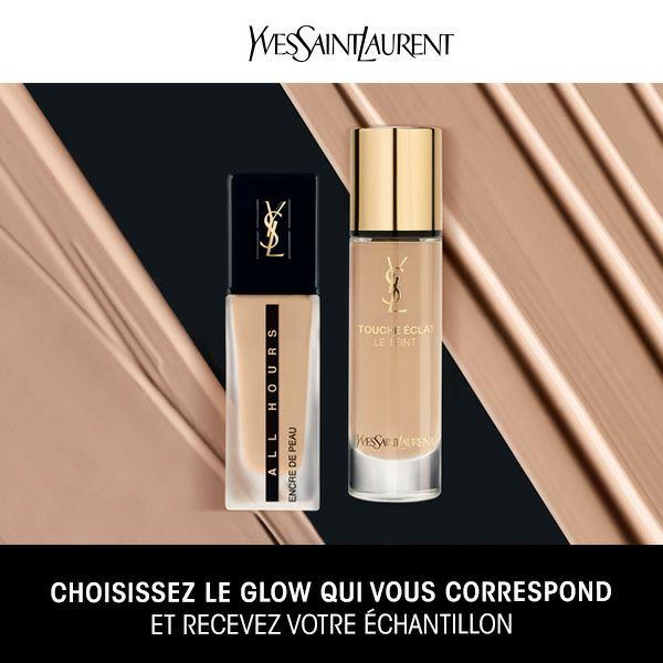 Échantillon gratuit de fond de teint Yves Saint Laurent Glow ou Mat