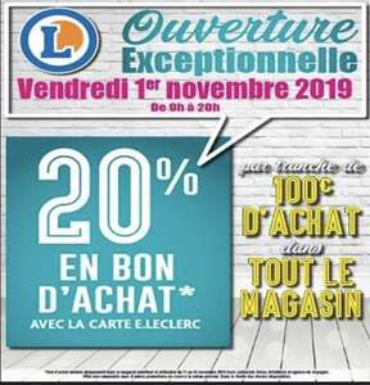 [Carte de fidélité] 20% remboursés en bon d'achat tous les 100€ d'achat - Viry-Châtillon (91)