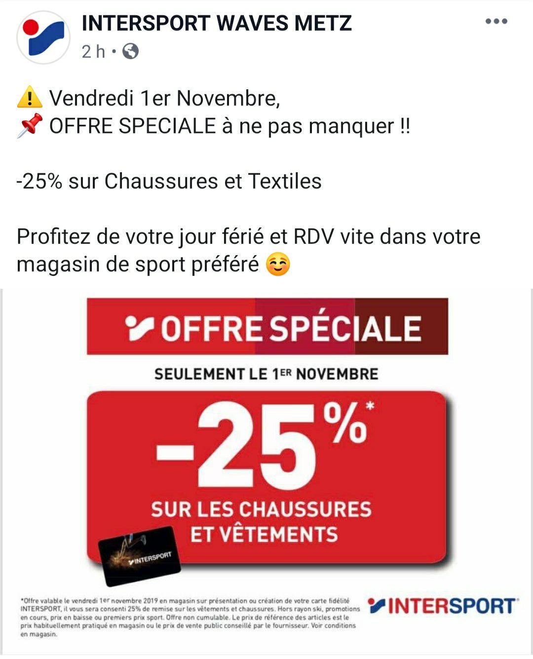 [Carte fidélité] -25% sur le textile et chaussures - Moulins-les-Metz (57)