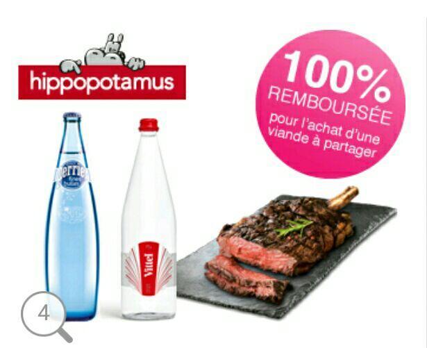 Perrier Fines Bulles ou Vitel 1L 100% Remboursé pour l'achat d'une viande à partager (via Shopmium)