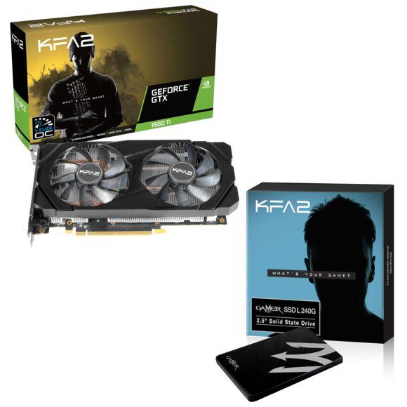 Carte graphique KFA2 - Geforce GTX 1660 Ti - 1-CLICK OC + SSD interne Gamer L - 120 Go