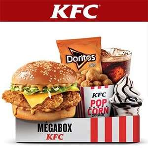Menu Megabox : Double Krunch BBQ ou Fish + Moyenne Frite + Moyenne Boisson + 11 Popcorn Chicken + Sundae ou P'tit Cookie