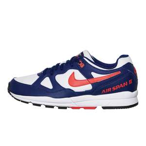 Baskets Nike Air Span II - Blue Void / Habanero Red / White ( Taille 40.5 et 41)